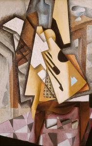 Guitar on a Chair by Juan Gris
