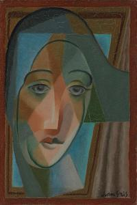 Head of a Harlequin; Tete D'Arlequin, 1924 by Juan Gris