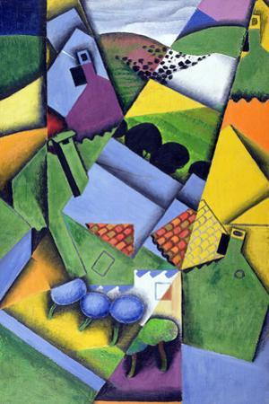 Landscape and Houses at Ceret, 1913 by Juan Gris