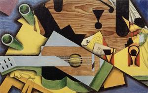 """Nature Morte à la Guitare"""" (Still Life with Guitar), 1913 by Juan Gris"""