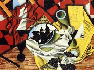Pears and Grapes on a Table; Poires et Raisins Sur Une Table, 1913 by Juan Gris