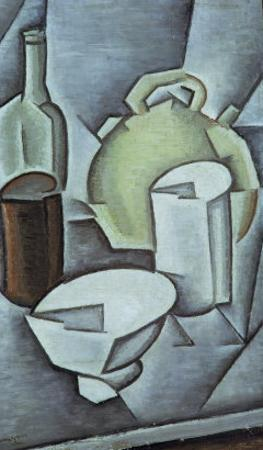 Still Life with a Bottle of Wine and an Earthenware Water Jug, 1911