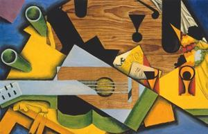 Still Life with a Guitar by Juan Gris