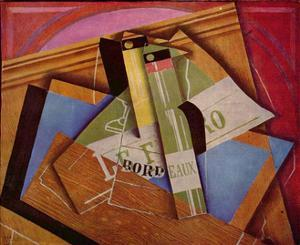 Still Life with Bordeaux Bottles, 1919 by Juan Gris
