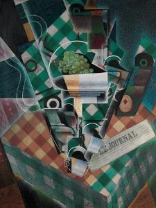 Still Life with Checked Tablecloth, 1915 by Juan Gris