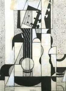 Still Life with Guitar by Juan Gris