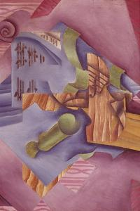 Still Life with Violin and Glass by Juan Gris