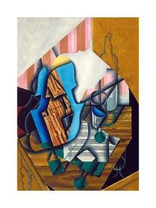 Still Life with Violin and Music Sheet, 1914 by Juan Gris