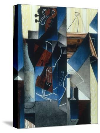 Violon et gravure accrochee (Violin and print), 1913