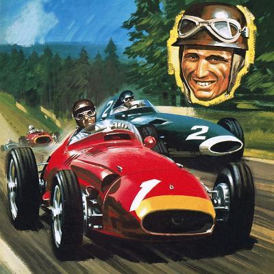 Juan Manuel Fangio-Wilf Hardy-Giclee Print