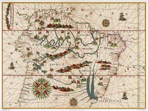 Map of Brazil by Juan Martinez
