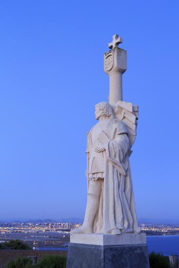 Juan Rodriguez Cabrillo Statue-Richard Cummins-Photographic Print
