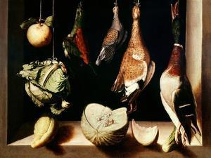 Still-Life with Game Fowl, 1600-1603 by Juan Sanchez Cotan