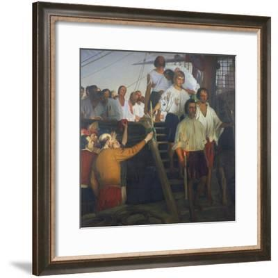 Juan Sebastian Elcano and His Crew, Painting--Framed Giclee Print