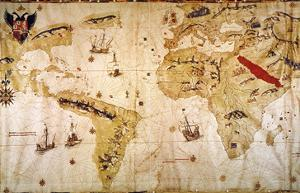 Vespucci's World Map, 1526 by Juan Vespucci