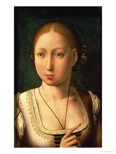 "Juana or Joanna of Castile, Called ""The Mad"" (1479-1555) Daughter of Ferdinand II of Aragon-Juan de Flandes-Giclee Print"
