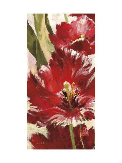 Jubilant Red Tulip Panel 1-Brent Heighton-Art Print