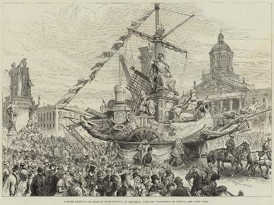 Jubilee Festival of Belgian Independence at Brussels, Historic Procession of Guilds--Giclee Print