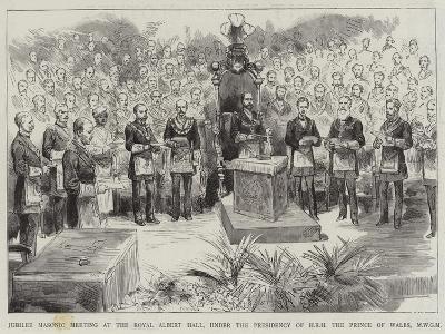 Jubilee Masonic Meeting at the Royal Albert Hall--Giclee Print