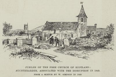 Jubilee of the Free Church of Scotland, Auchterarder, Associated with the Disruption in 1843-William 'Crimea' Simpson-Giclee Print