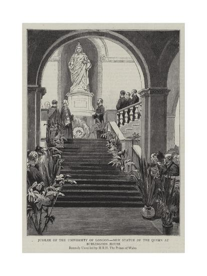 Jubilee of the University of London, New Statue of the Queen at Burlington House--Giclee Print