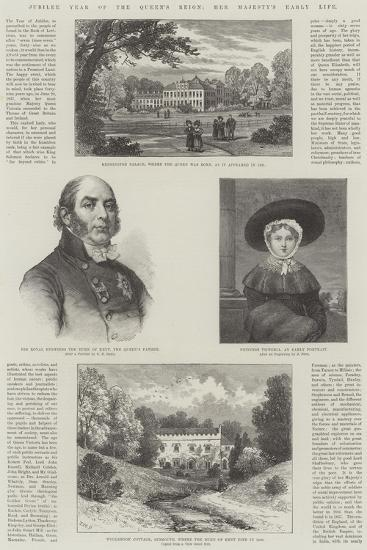 Jubilee Year of the Queen's Reign, Her Majesty's Early Life-William Henry James Boot-Giclee Print