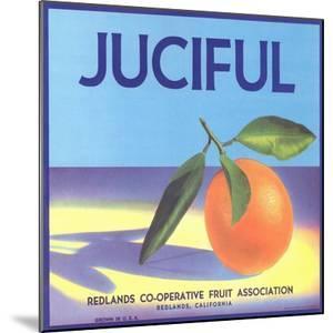 Juciful Orange Crate Label