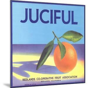 Juciful Orange Crate Label