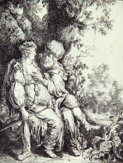 Judah and Tamar-Pieter Lastman-Giclee Print