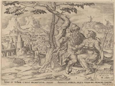 Judah Giving Tamar the Pledge, C.1566-Maarten van Heemskerck-Giclee Print