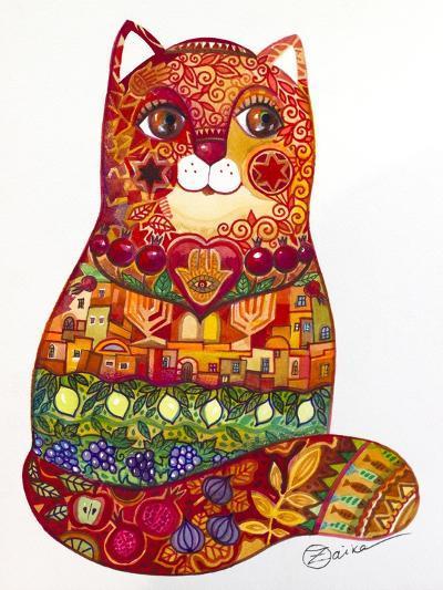 Judaica Folk Cat-Oxana Zaika-Giclee Print