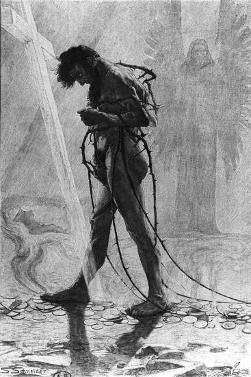 Judas, 1896-Sascha Schneider-Giclee Print