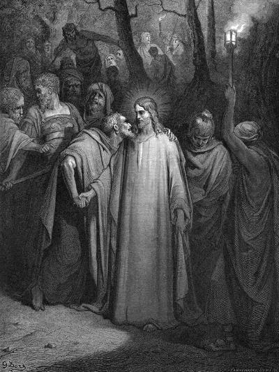 Judas Betraying Christ with a Kiss, 1866-Gustave Dor?-Giclee Print