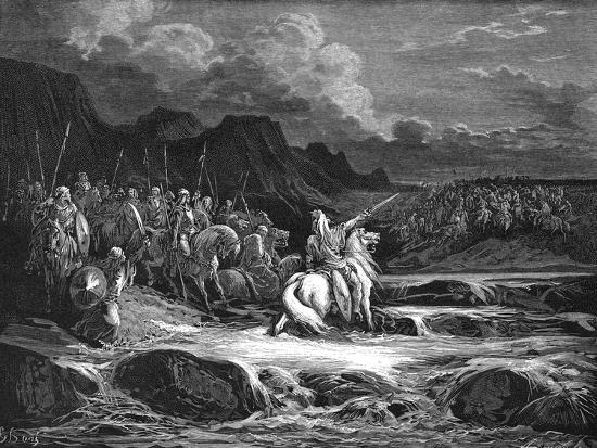 Judas Maccabaeus Leading Jewish Army into Battle--Giclee Print