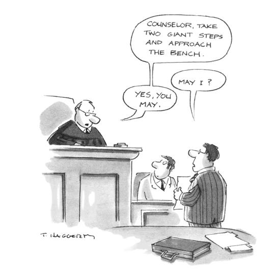 Wondrous Judge Counselor Take Two Giant Steps And Approach The Bench Attorney Cartoon Premium Giclee Print By Tim Haggerty Art Com Machost Co Dining Chair Design Ideas Machostcouk