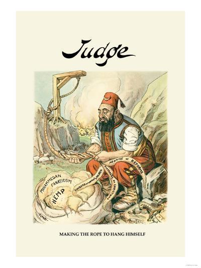 Judge: Making the Rope to Hang Himself--Art Print