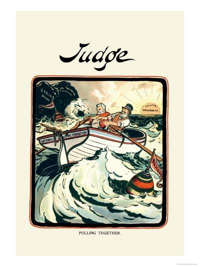 Judge: Pulling Together-Grant Hamilton-Art Print