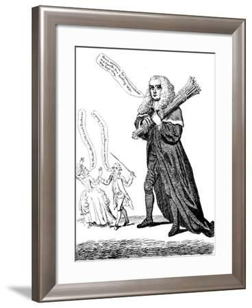 Judge Thumb or Sticks of a Lawful Size for Family Discipline, 1782--Framed Giclee Print