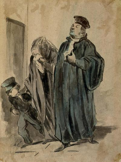 Judge, Woman and Child-Honore Daumier-Giclee Print