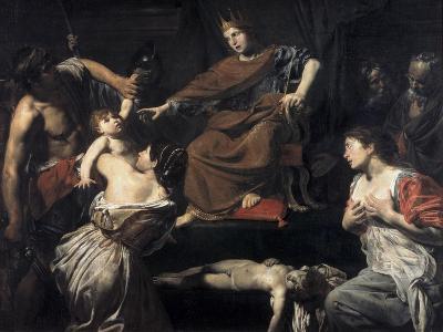 Judgement of Solomon-Valentin de Boulogne-Giclee Print