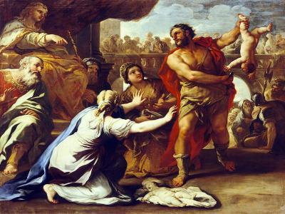 Judgement of Solomon-Luca Giordano-Giclee Print