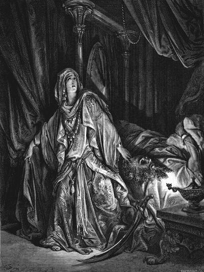 Judith About to Cut Off the Head of Holofernes, 1866-Gustave Dor?-Giclee Print