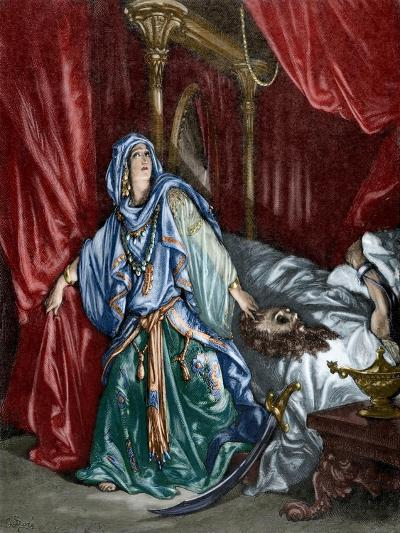 Judith after Behead the Assyrian General Holofernes--Giclee Print