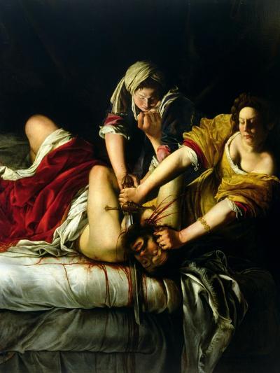 Judith and Holofernes, 1612-21-Artemisia Gentileschi-Giclee Print