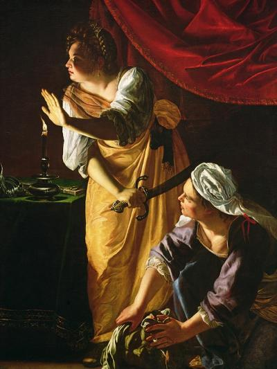 Judith and Maidservant with the Head of Holofernes, c.1625-Artemisia Gentileschi-Giclee Print