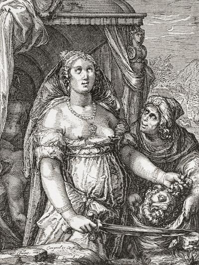 Judith Beheading the Assyrian General Holofernes--Giclee Print