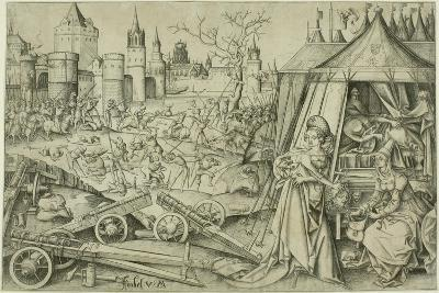 Judith, C.1495 (Engraving on Ivory Laid Paper)-Israhel van, the younger Meckenem-Giclee Print