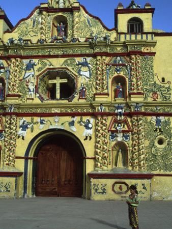 Church in San Andres Xecul, Guatemala