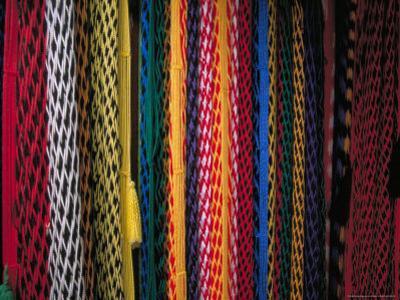 Colorful Hammocks at the Market, Oaxaca, Mexico