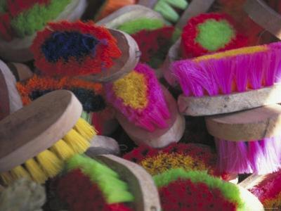 Colorful Kitchen Brushes Outside the Palacio de Gobierno, Oaxaca, Mexico